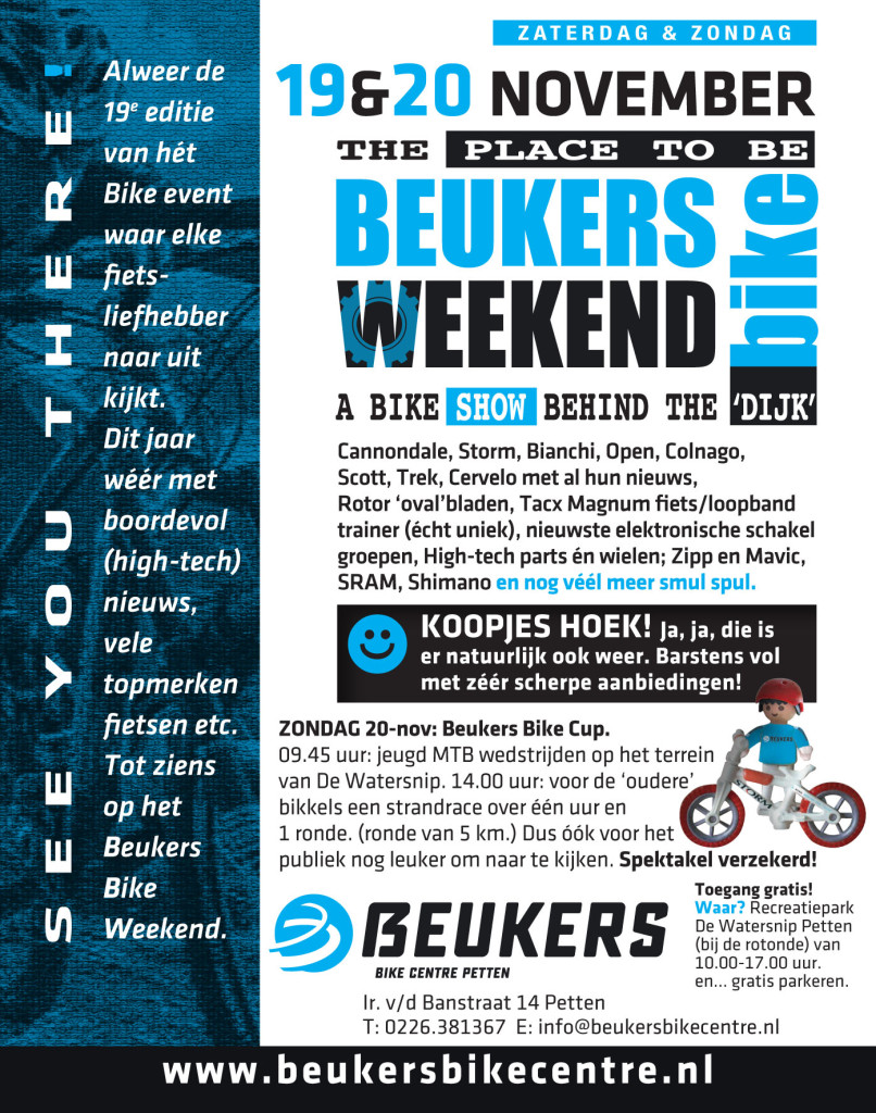 Beukers Bike Weekend Flyer