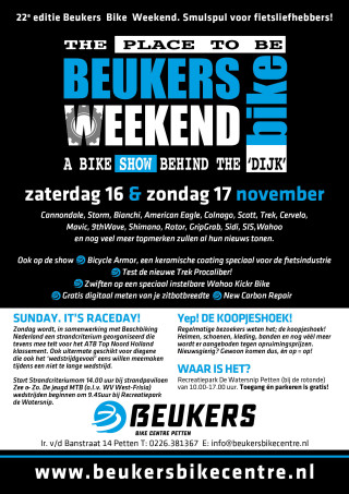 Beukers Bike Weekend flyer 2019