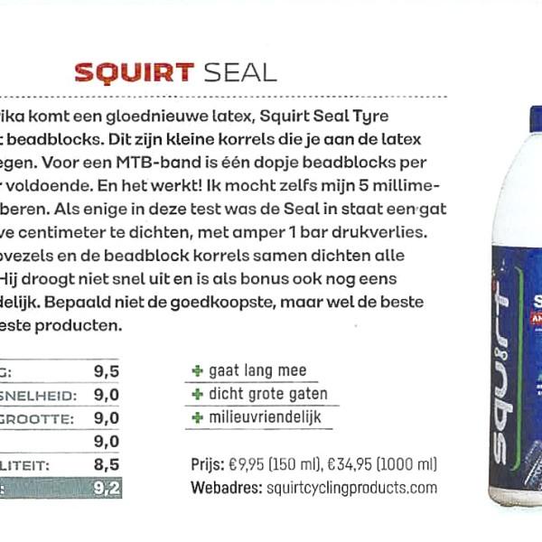 Squirt SEAL anti-lek latex als beste getest in het blad Fiets
