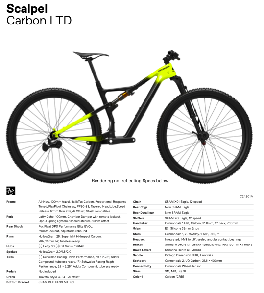 Nieuwe Cannondale Scalpel Carbon LTD