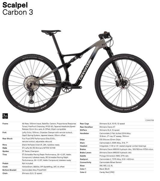Nieuwe Cannondale Scalpel Carbon 3