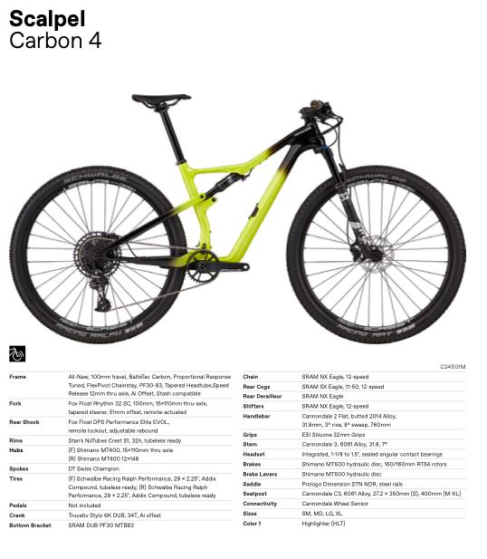 Nieuwe Cannondale Scalpel Carbon 4
