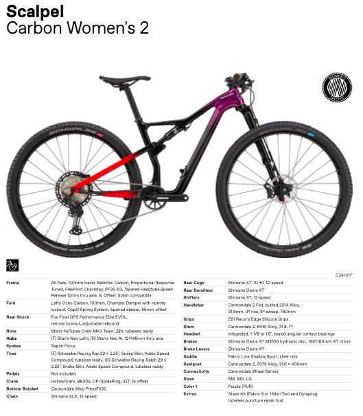 Nieuwe Cannondale Scalpel Carbon Women's 2