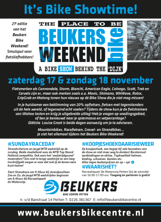 Beukers Bike Weekend 2018 Flyer