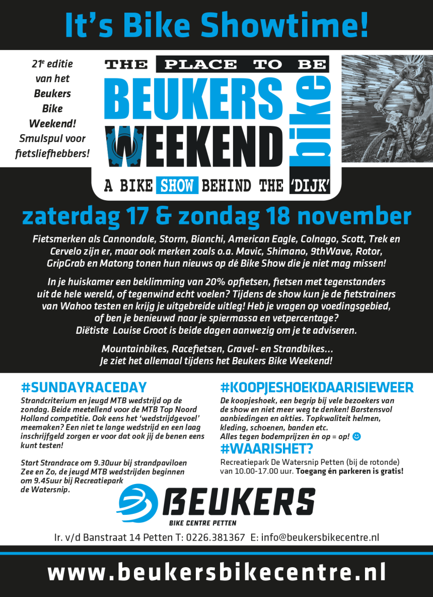 Beukers Bike Weekend 2018 Flyer
